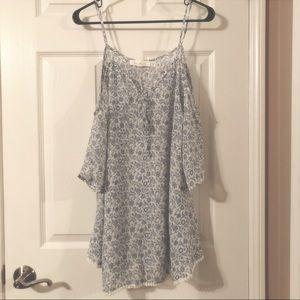 Francesca's Swimsuit Coverup - Blue & White Floral